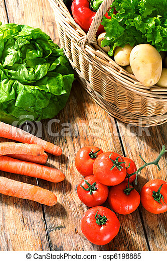 fruit and vegetables - csp6198885