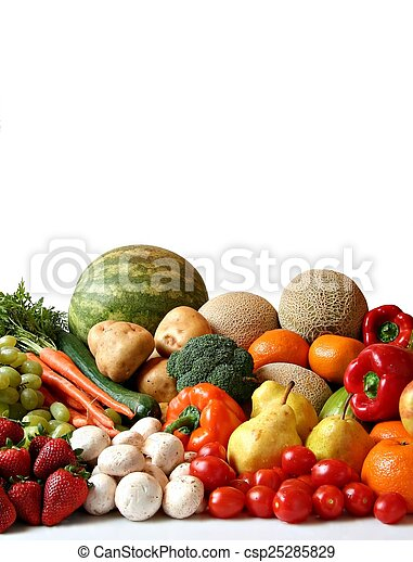 fruit and vegetables - csp25285829