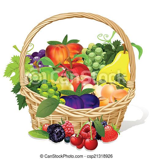 fruit basket - csp21318926