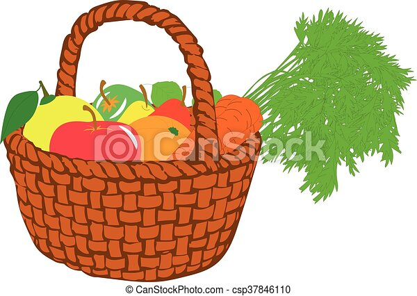 fruit basket vector illustrations on a transparent vector clip rh canstockphoto ie fruit basket clipart outline empty fruit basket clipart black and white