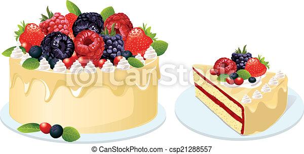 fruit cake  - csp21288557