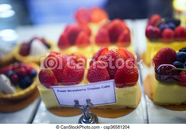 fruit cake in soft light - csp36581204