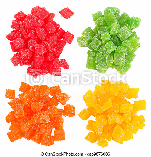 Fruit candy multi-colored all sorts  - csp9876006