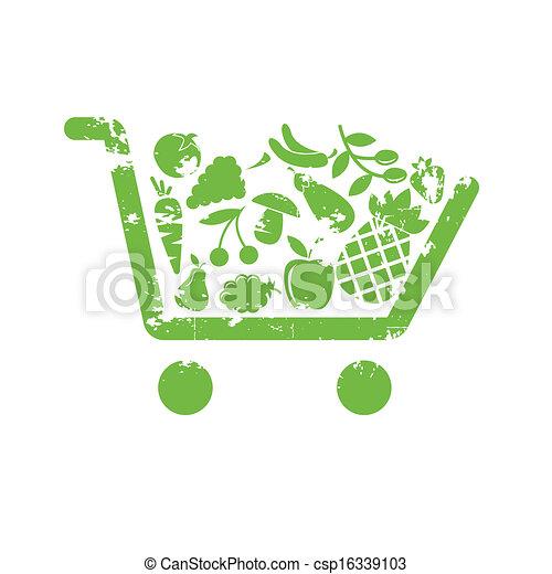 fruit, chariot - csp16339103