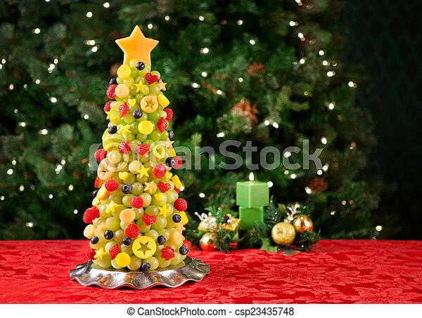 Fruit Christmas tree - csp23435748