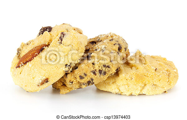 fruit cookies on white background - csp13974403