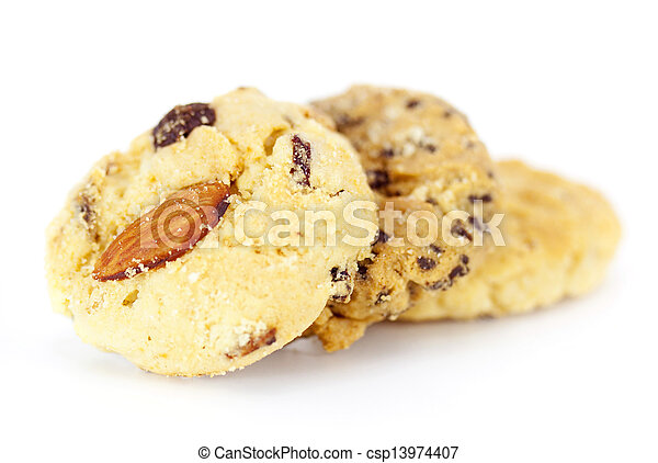 fruit cookies on white background - csp13974407