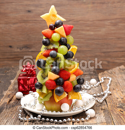 fruit decoration for christmas - csp62854766