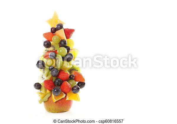 fruit dessert for christmas - csp60816557