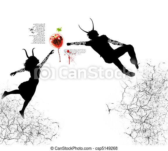 fruit, eten, verboden - csp5149268