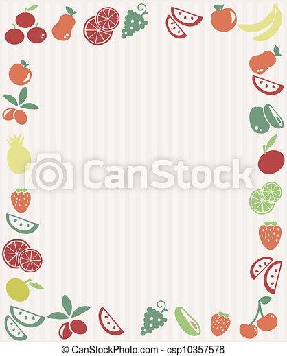 Fruit frame - csp10357578