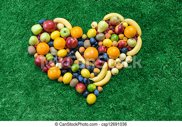 Fruit heart - csp12691036
