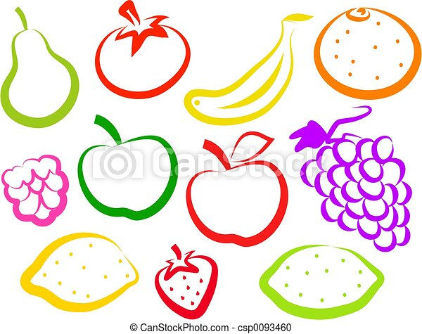 Fruit Icons - csp0093460