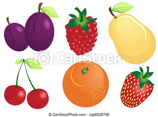 fruit-icons - csp6528708