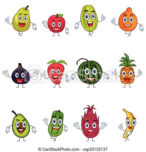Fruit in Characters - csp33133137
