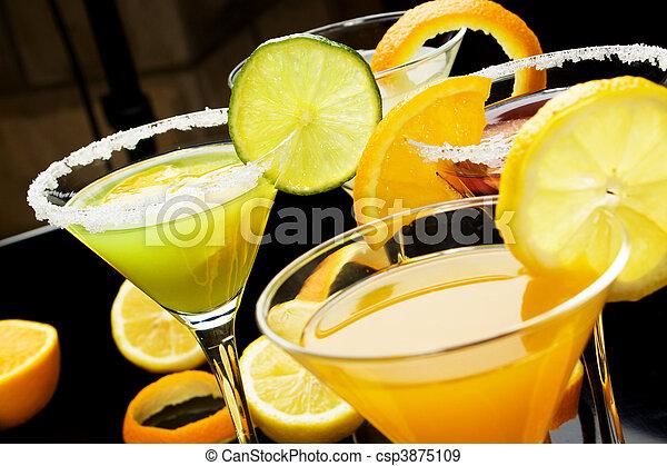 Fruit juice cocktail drink - csp3875109