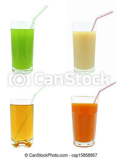 fruit juice on a white background - csp15858957