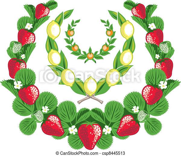 Fruit Laurels - csp8445513