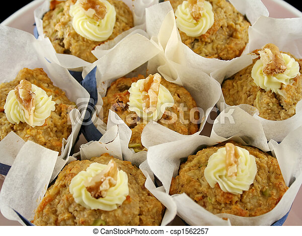 Fruit Muffins With Walnuts 6 - csp1562257