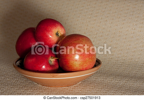 fruit on a plate - csp27501913