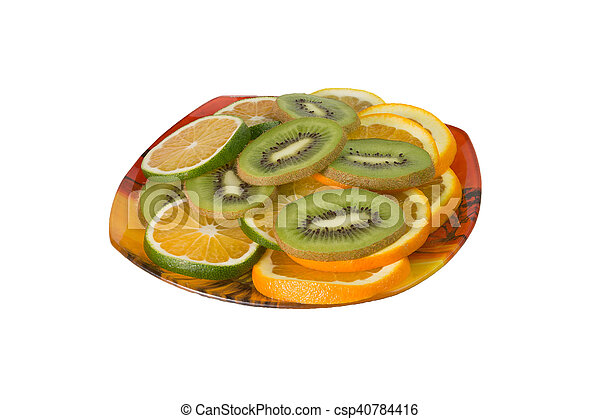 fruit on a plate - csp40784416