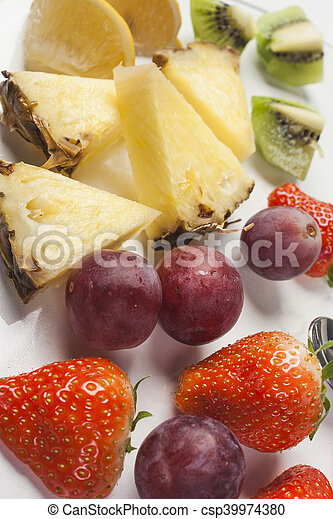 Fruit on a plate - csp39974380
