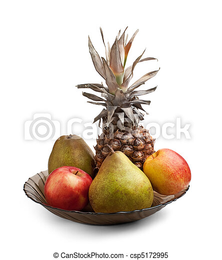 fruit on a plate - csp5172995