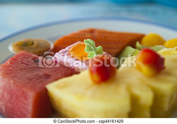 Fruit on a plate - csp44161429