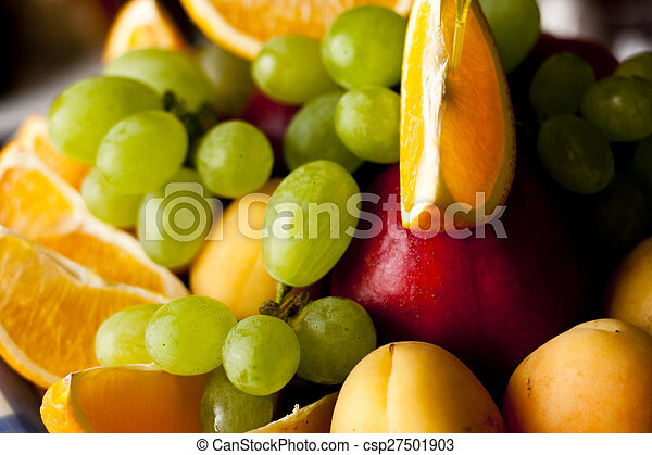 fruit on a plate - csp27501903