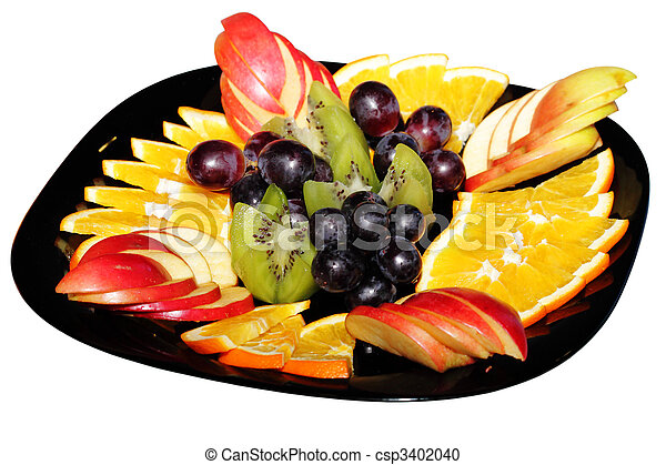 Fruit on a plate - csp3402040