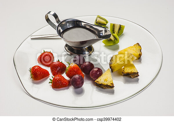 Fruit on a plate - csp39974402