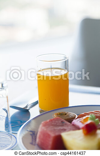 Fruit on a plate - csp44161437
