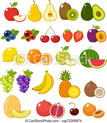 Fruit on a white background - csp72309974