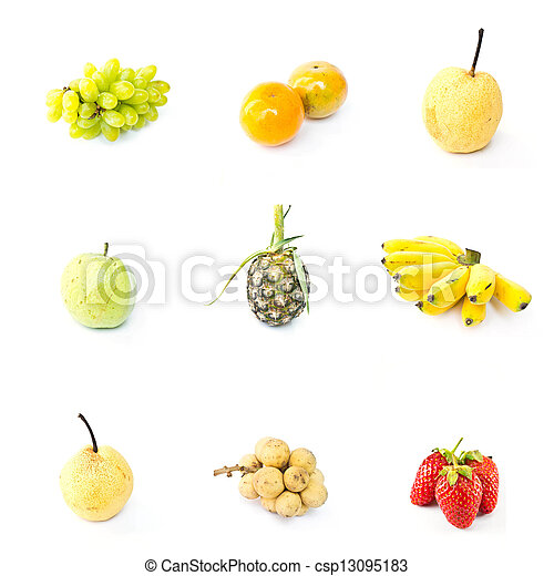 Fruit on a white background - csp13095183