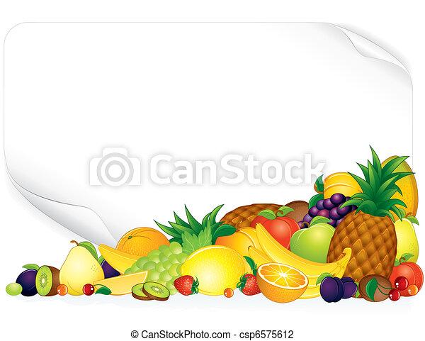 Fruit Poster - csp6575612