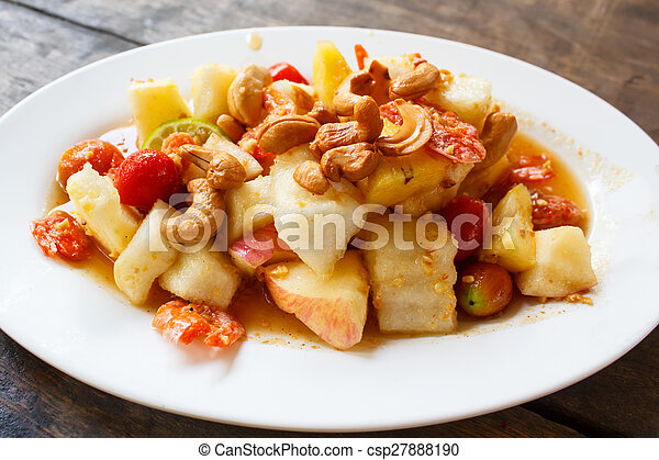 Fruit Salad (som tam polamai). - csp27888190