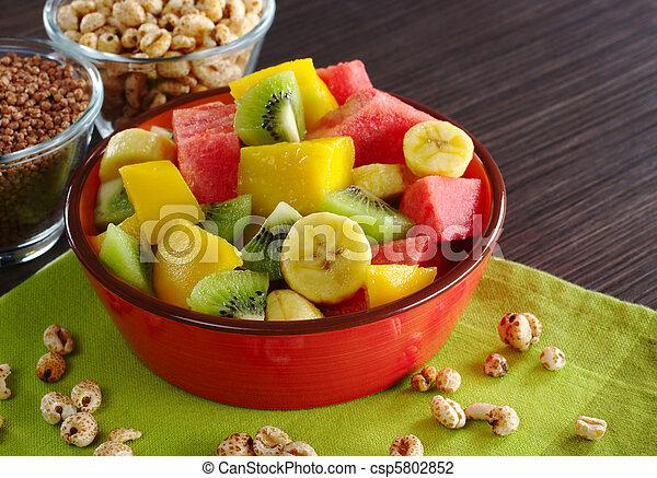 Fruit Salad with Cereals - csp5802852