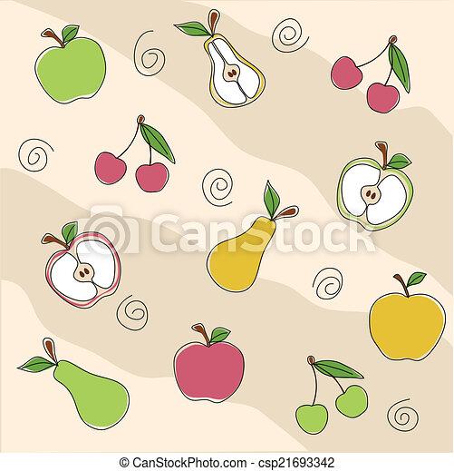 Fruit seamless texture - csp21693342