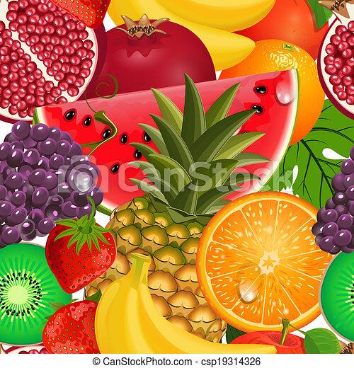fruit, seamless, textuur, sappig - csp19314326
