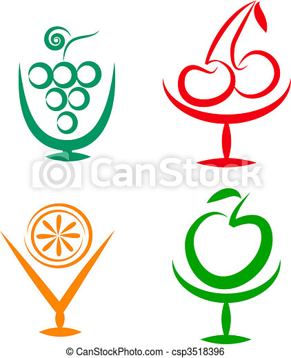 fruit shakes and cocktails icons 2 colorful icon set of clip rh canstockphoto com clip art constellations clip art icons and symbols