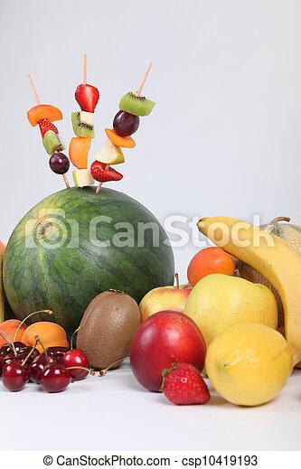 Fruit skewers - csp10419193