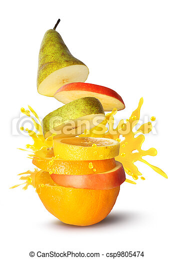 Fruit slices juice burst - csp9805474