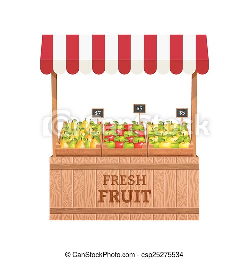 Fruit stand - csp25275534