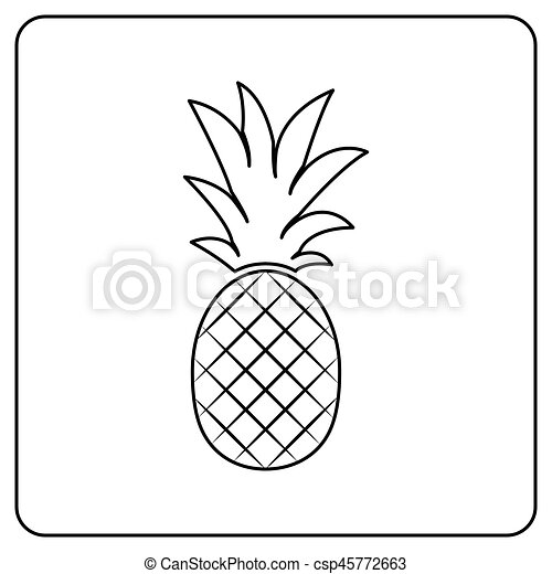 Fruit Vecteur Illustration Ananas