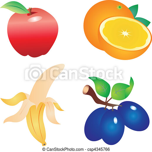 fruit vector set of fruit vectors to see similar please clip rh canstockphoto com passion fruit vectors fruit vectors png