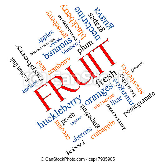 Fruit Word Cloud Concept Angled - csp17935905