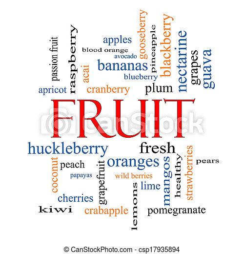 Fruit Word Cloud Concept - csp17935894
