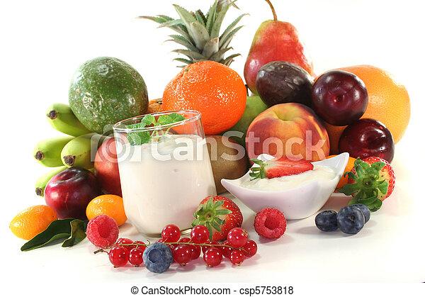Fruit yogurt - csp5753818
