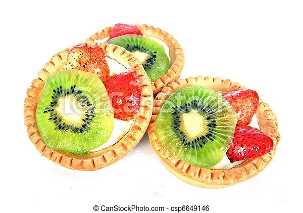 Pastel de frutas - csp6649146
