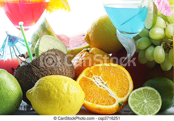 Fruits and cocktails - csp3716251
